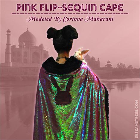 Corinna-Maharani-pink-flip-sequin-cape66