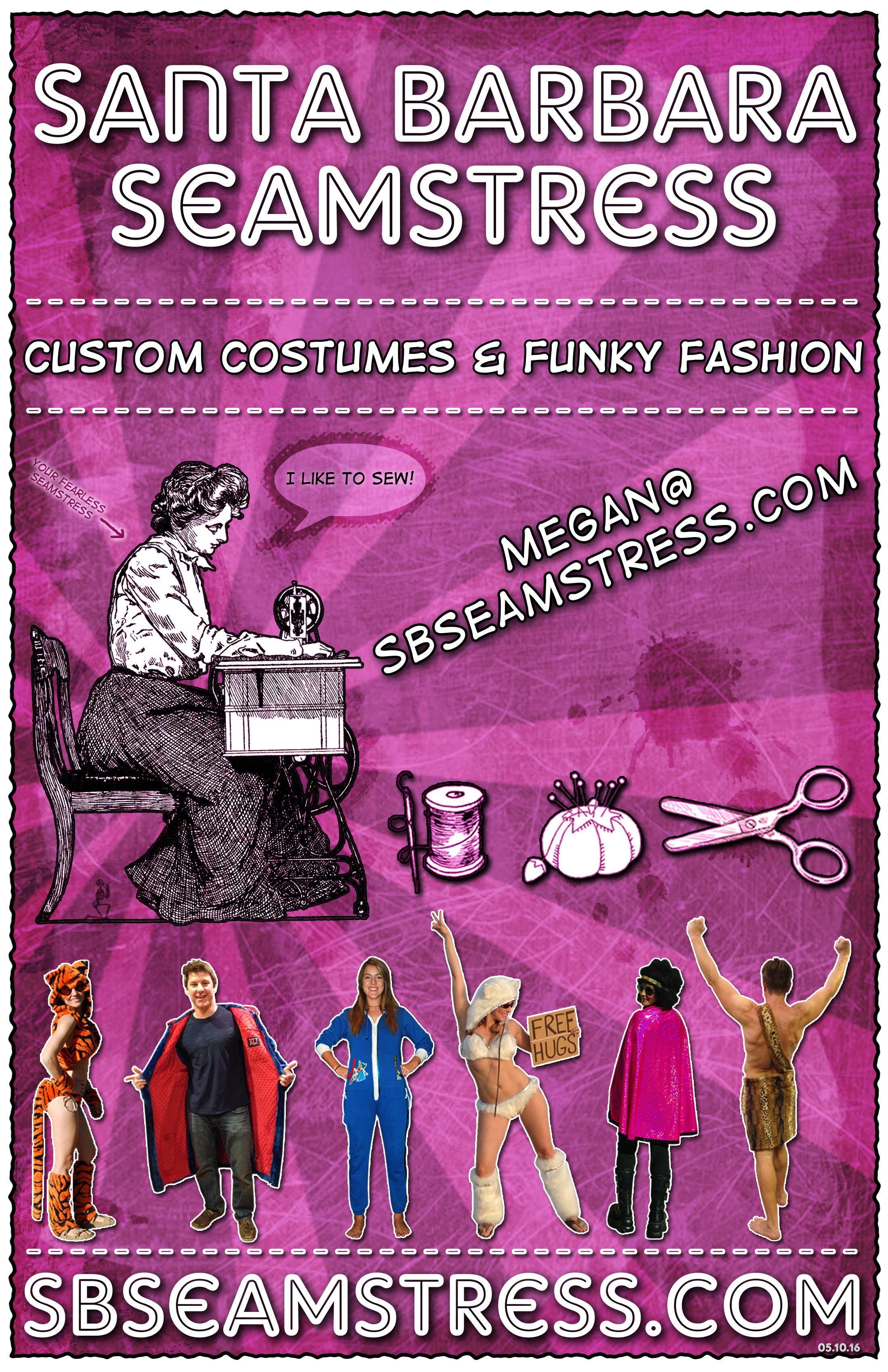 Santa Barbara Seamstress Flyer-Pink- SB Seamstress